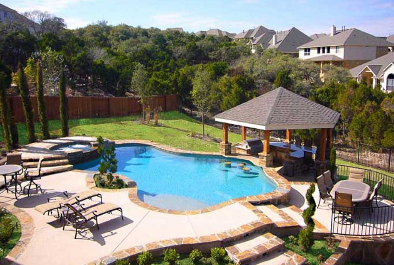 beautiful backyard pools photo - 2