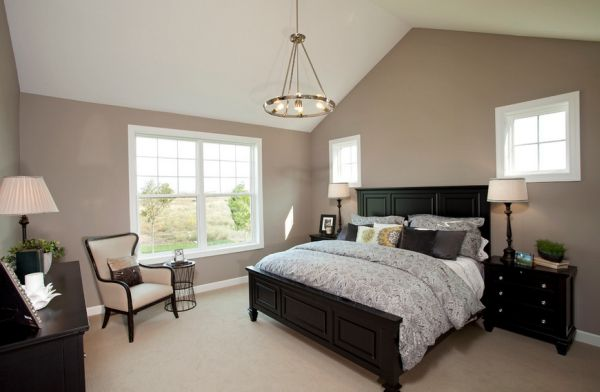 bedroom colors with black furniture photo - 2