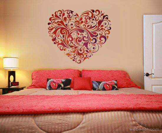 bedroom wall painting photo - 2