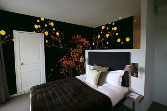 bedroom wall painting ideas photo - 2