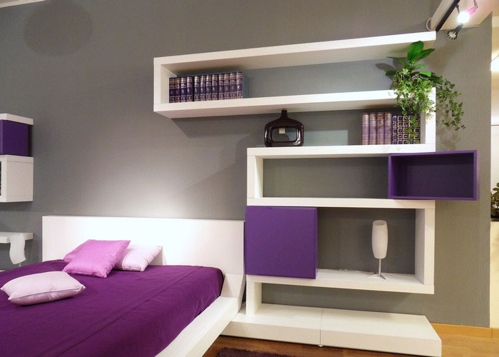 bedroom wall shelves ideas photo - 2