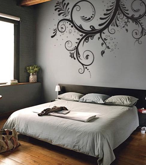 bedroom wall stencils photo - 2