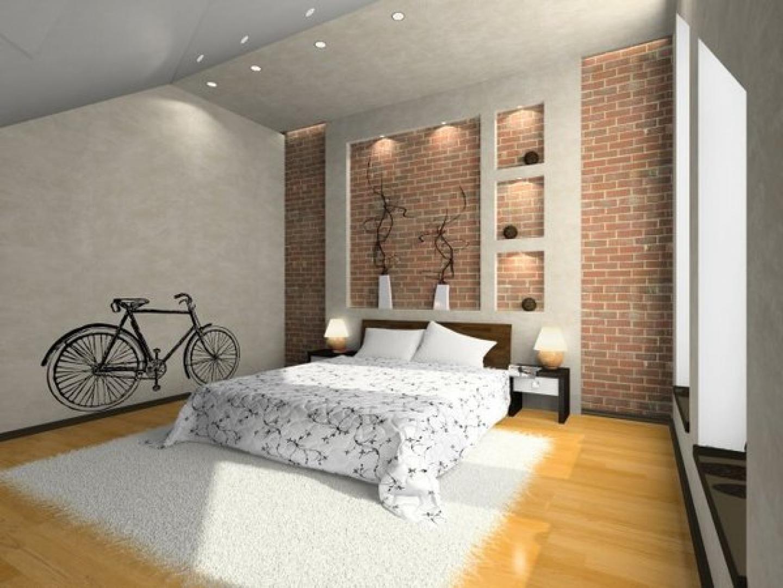 25 - Brick Wallpaper Bedroom Ideas