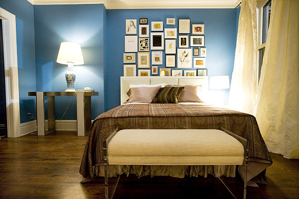 bedrooms with blue walls photo - 2