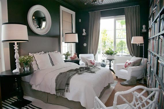bedrooms with gray walls photo - 1