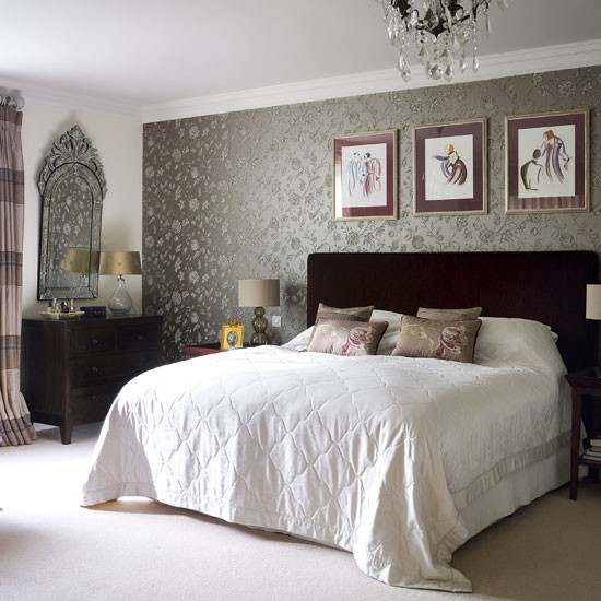 Bedrooms with wallpaper - large and beautiful photos. Photo to ...