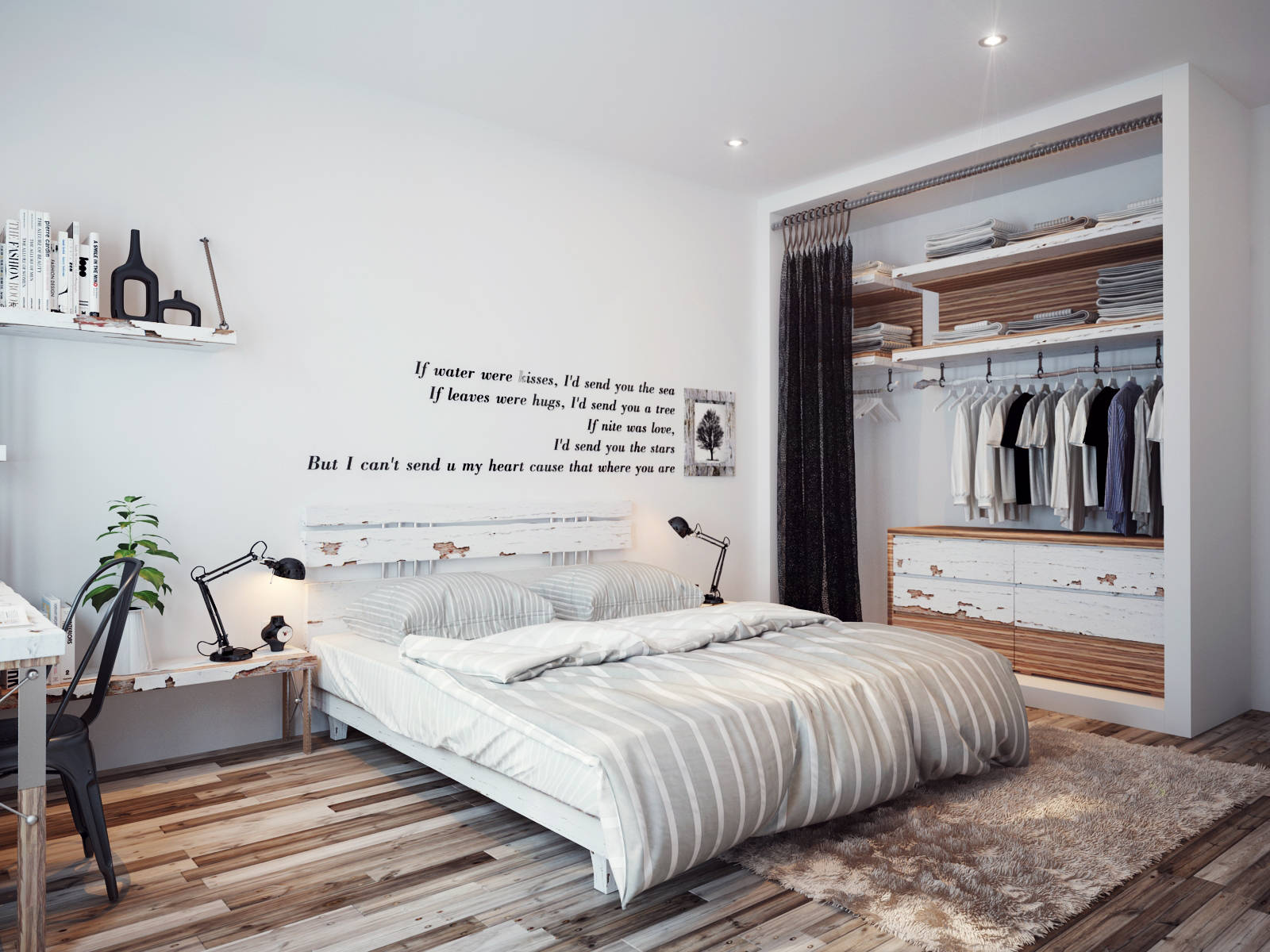 bedrooms with white walls photo - 2