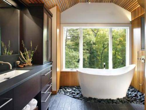 best window treatments for bathrooms photo - 1