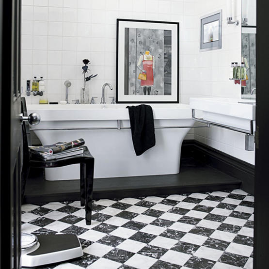 Bathroom Decorating Ideas Black And White Part - 30: Black And White Bathroom Ideas