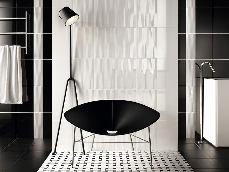 white bathroom tile bathroom tile floor ceramic wave pattern
