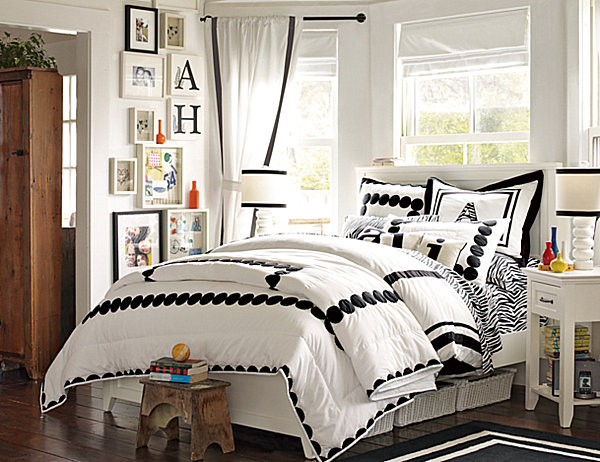 Black and white teenage bedroom - large and beautiful photos ...