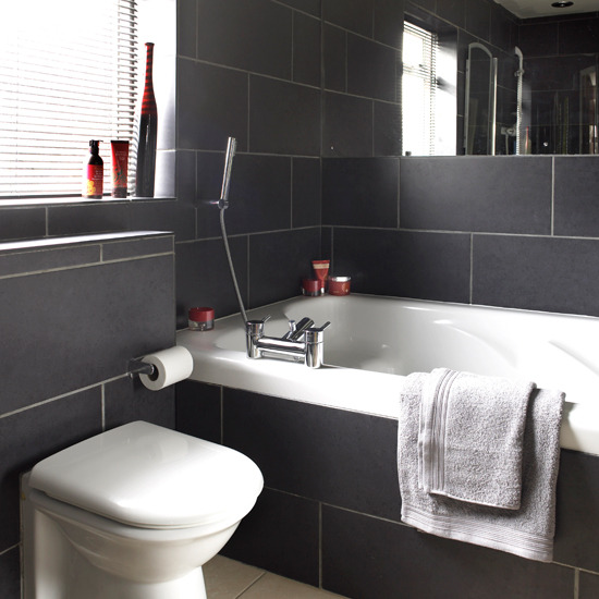 Black and white tiled bathrooms - large and beautiful photos ...