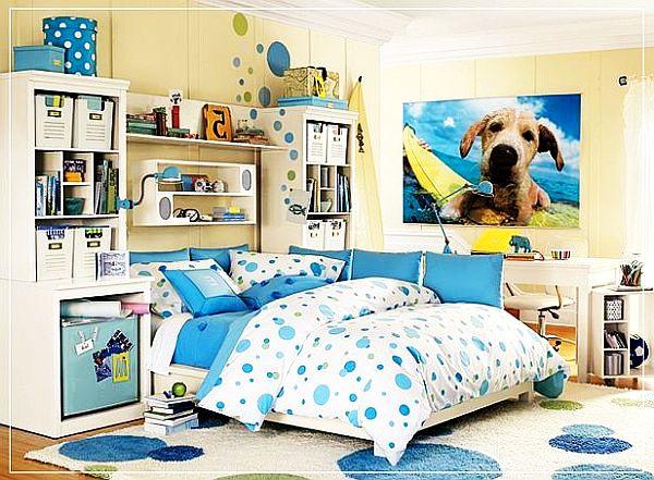 blue bedroom for girls photo - 2
