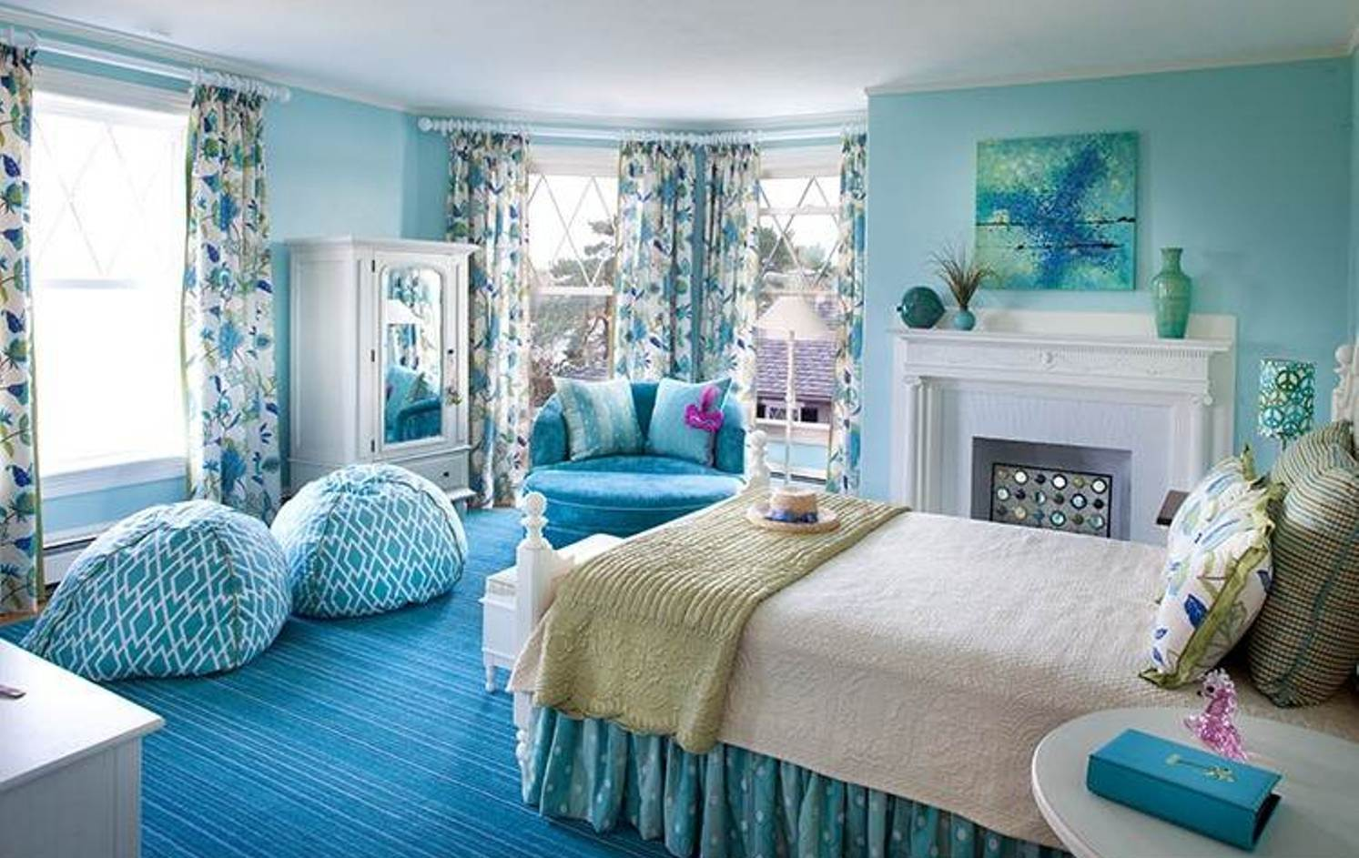 blue bedroom ideas for girls photo - 1
