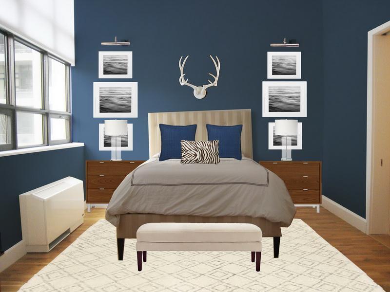 blue bedroom paint colors photo - 2