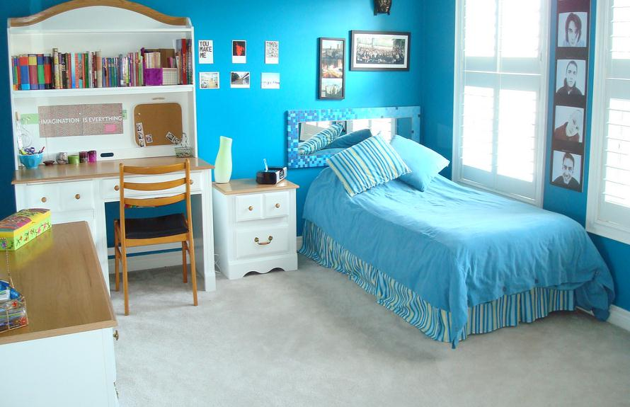 blue bedrooms for girls photo - 2
