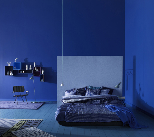 blue color schemes for bedrooms photo - 2