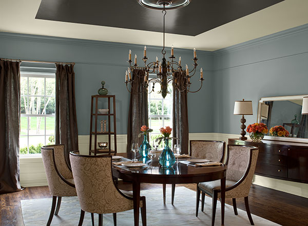 blue dining room photo - 2