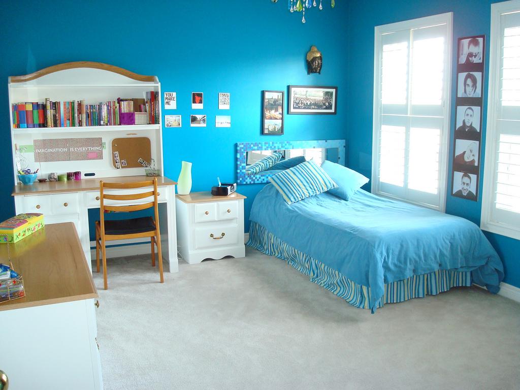 blue girl bedrooms photo - 2