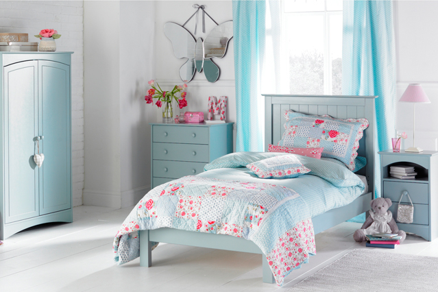 blue girls bedroom ideas photo - 2