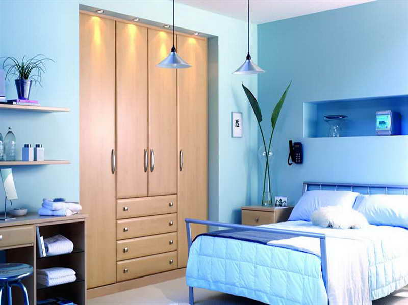 blue paint colors for bedroom photo - 2