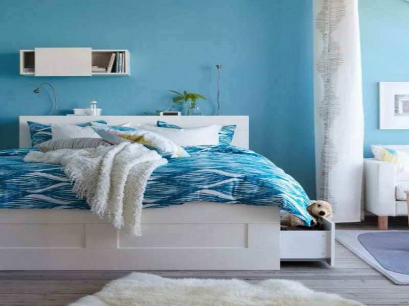 blue paint colors for bedrooms photo - 1