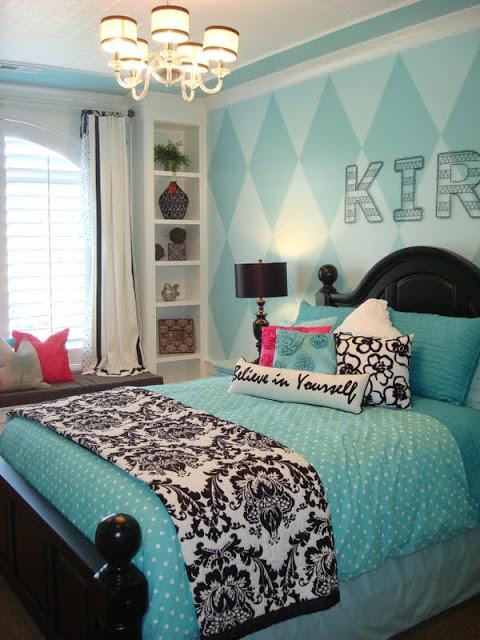 blue teenage girl bedrooms photo - 2