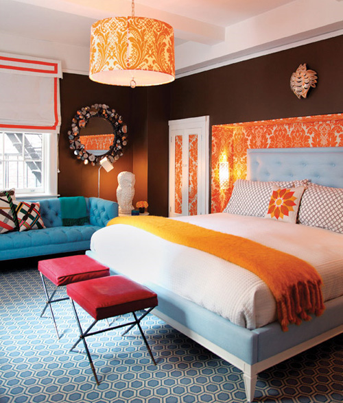 bold bedroom colors photo - 2