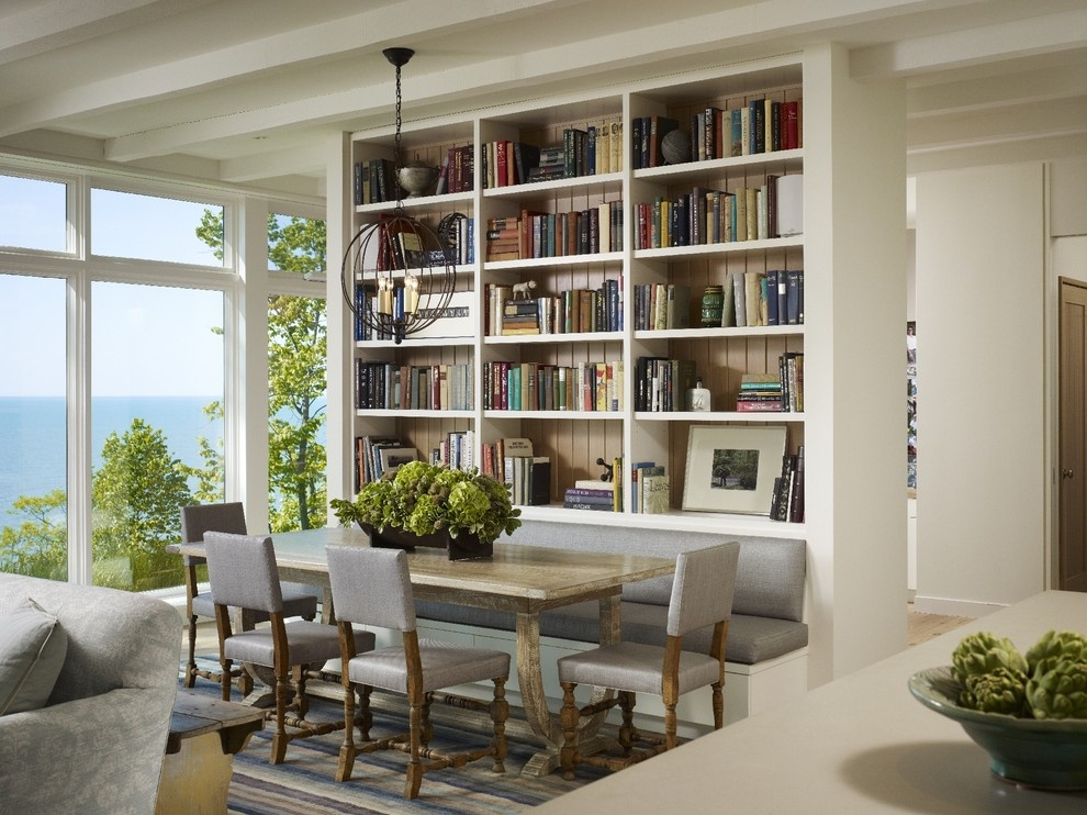 bookcase in dining room photo - 1