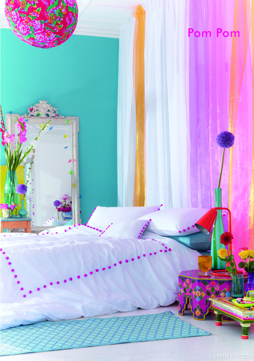 bright colored bedrooms photo - 1
