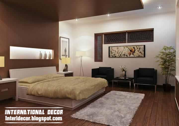 brown bedroom color schemes photo - 1