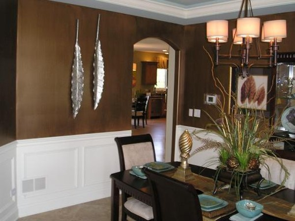 brown dining room photo - 2