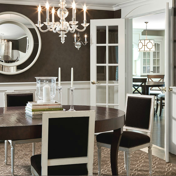 brown dining rooms photo - 2