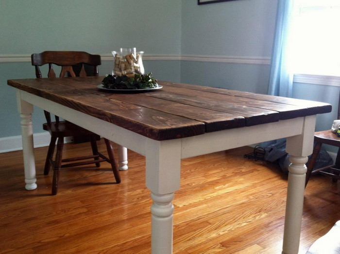 build dining room table photo - 2