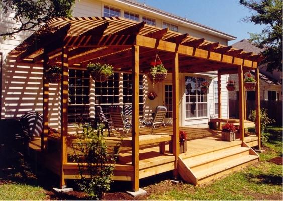 building a backyard deck photo - 2