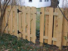 building a backyard fence photo - 2