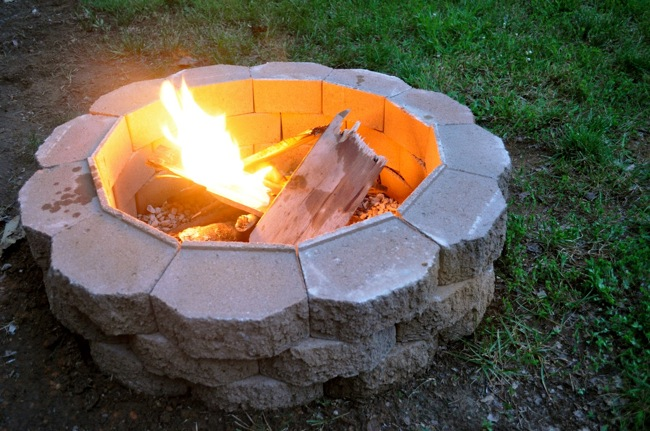 building a firepit in backyard photo - 1