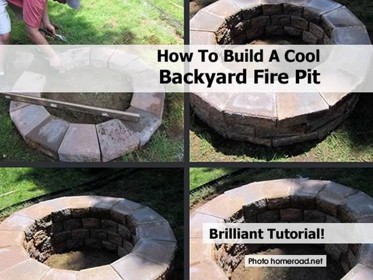 building a firepit in backyard photo - 2