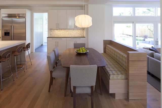 built in dining room bench photo - 1