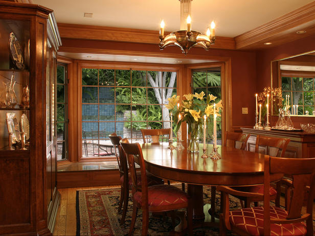 burgundy dining room photo - 1