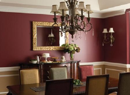 burgundy dining room photo - 2