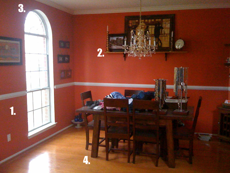 Burnt orange dining room large and beautiful photos for Orange dining room