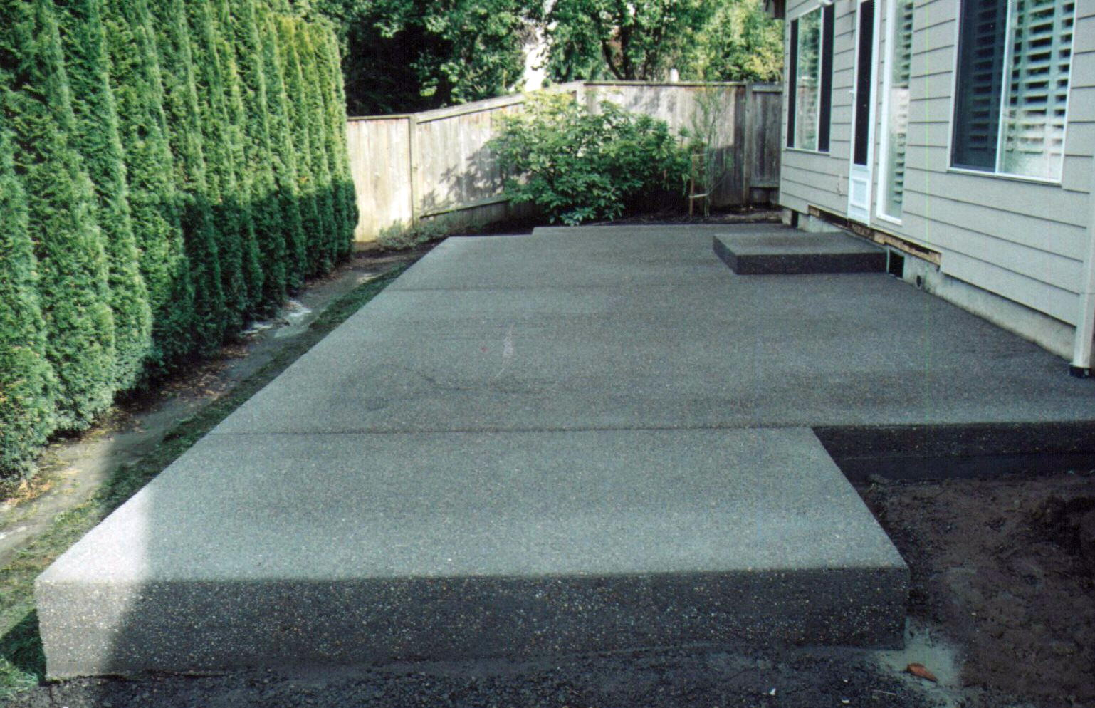 Cement Backyard Ideas