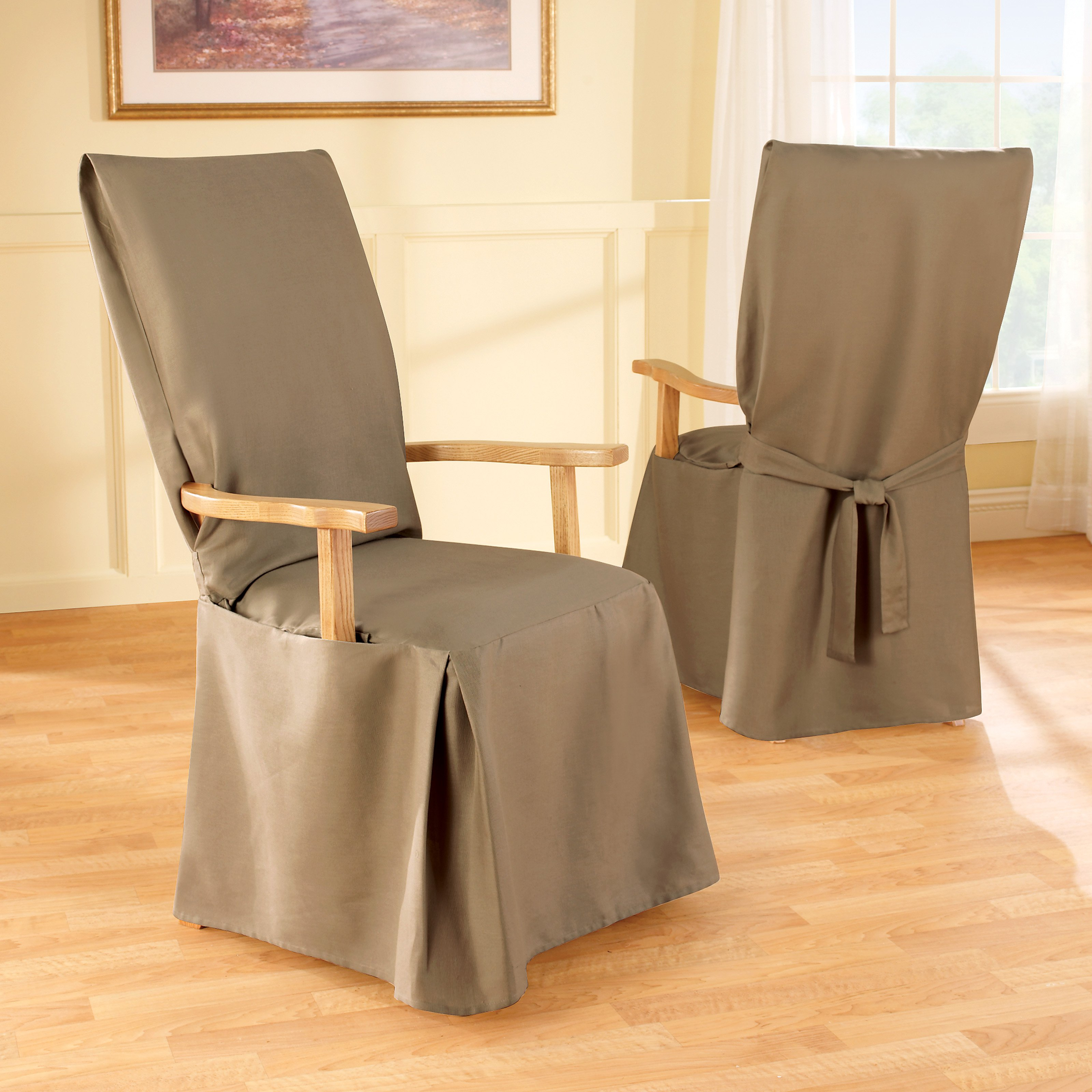 chair covers for dining room chairs photo - 2