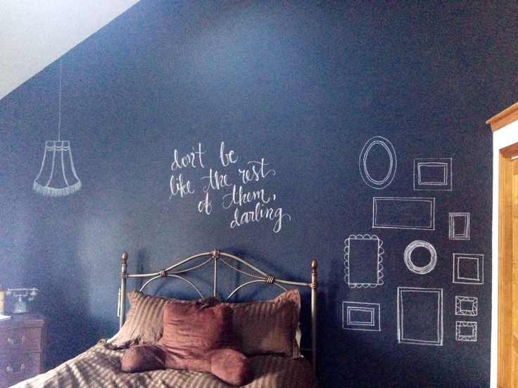 Chalkboard Wall Bedroom Photo   2
