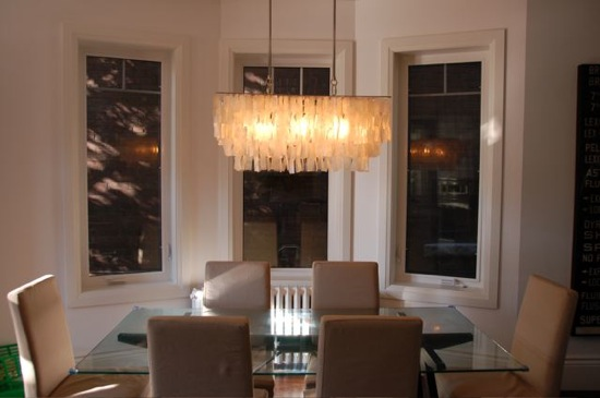chandelier dining room lighting photo - 1