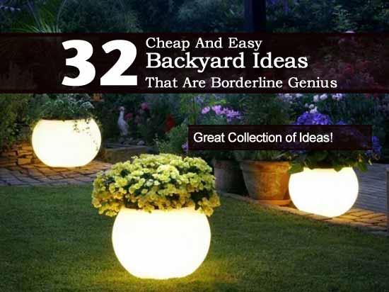 cheap and easy backyard ideas photo - 1