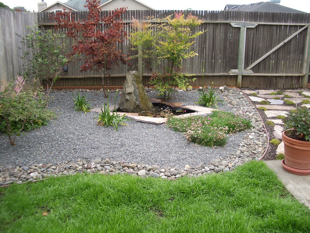 cheap landscaping ideas for small backyards photo - 2