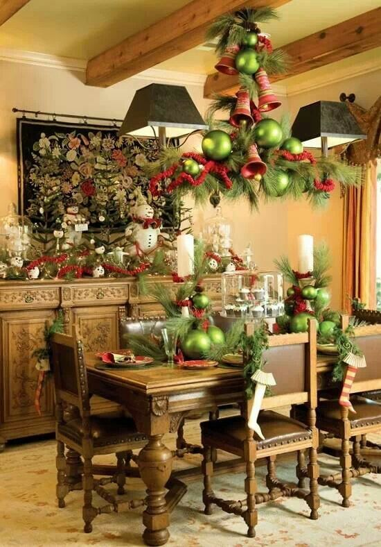 christmas dining room table decorations