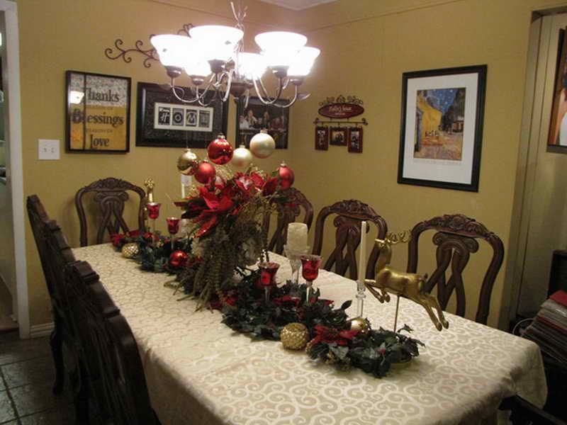 christmas dining room table decorations photo - 2